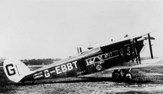 1923 Daimler Airway de Havilland DH.34 crash