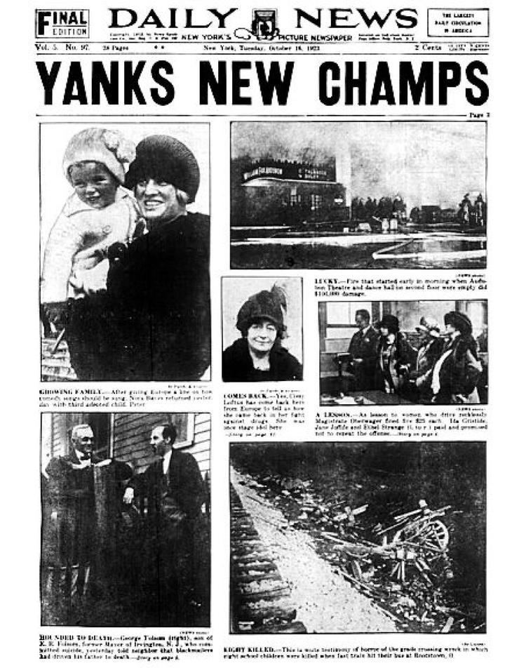 1923 World Series 27 Yankees World Series titles 27 Daily News covers slide 1 NY