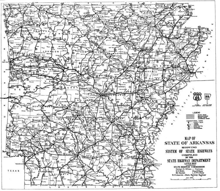 1926 Arkansas state highway numbering