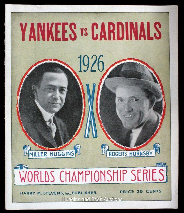 1926 World Series 1926 World Series ProgramYankees vs Cardinals