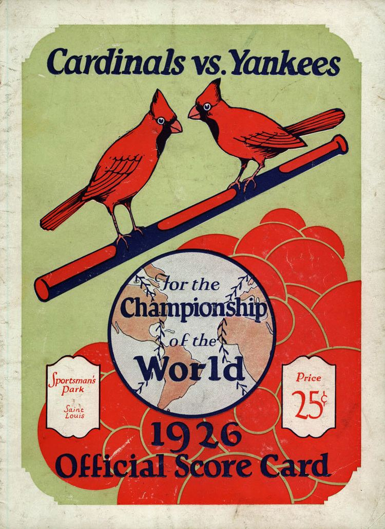 1926 World Series wwwbaseballalmanaccomimages1926WorldSeries