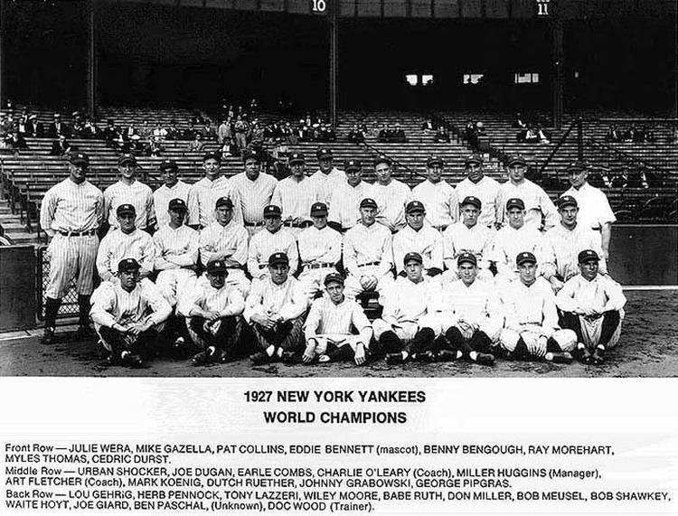 1927 New York Yankees season The Unofficial 1927 New York Yankees Home Page
