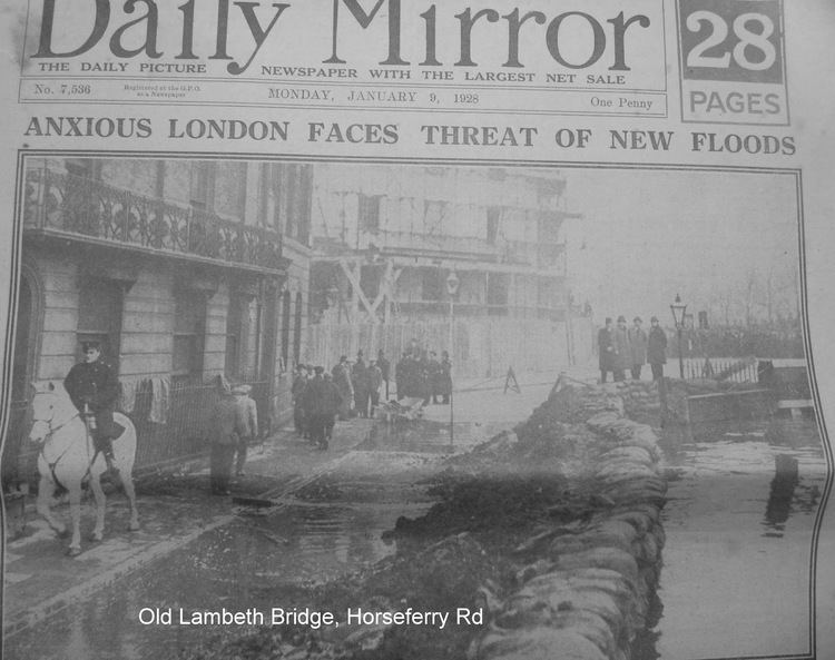 1928 Thames flood Where do you think you are The 1928 Thames Flood