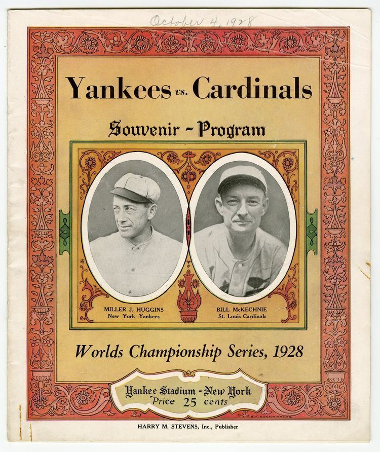 1928 World Series Lot Detail 1928 World Series Program St Louis Cardinals at New