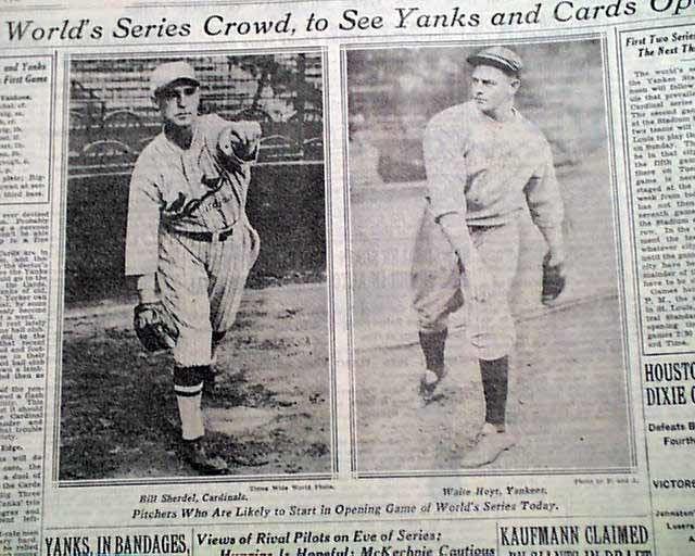 1928 World Series New York Yankees 1928 World Series RareNewspaperscom