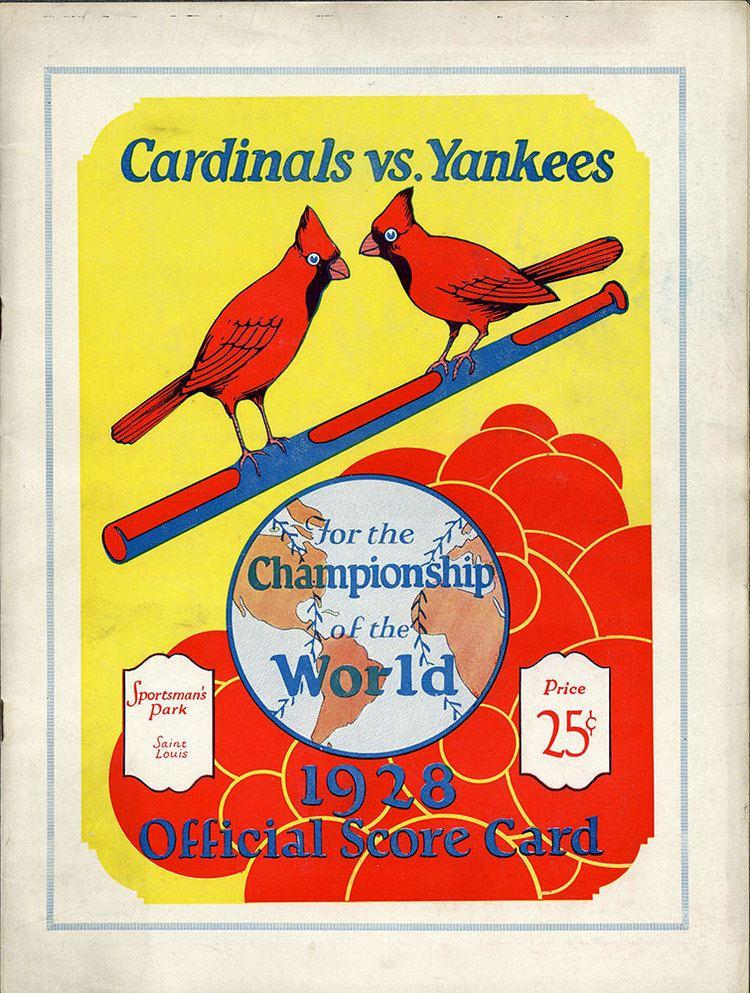 1928 World Series wwwbaseballalmanaccomimages1928WorldSeries