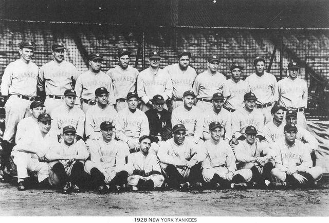 1928 World Series 1928Yankees 800543 640434 The Captain39s Blog