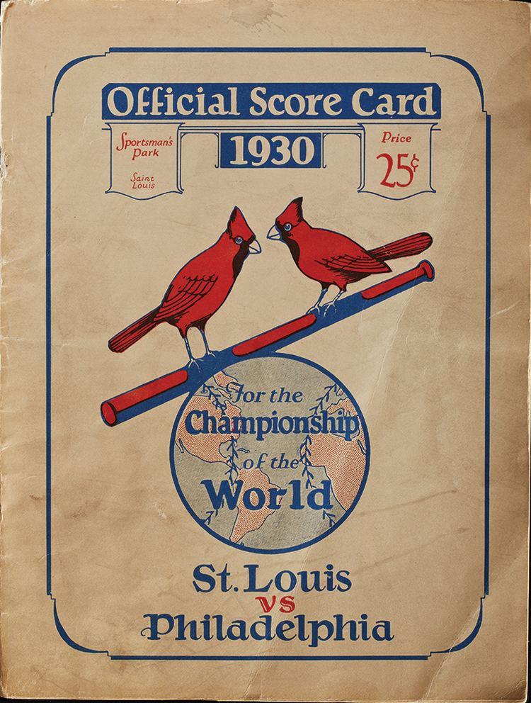 1930 World Series Lot Detail 1930 World Series ProgramSt Louis Vs Philadelphia at