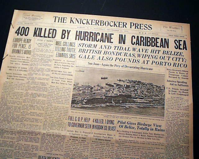 1931 Belize hurricane 1931 Belize Hurricane RareNewspaperscom