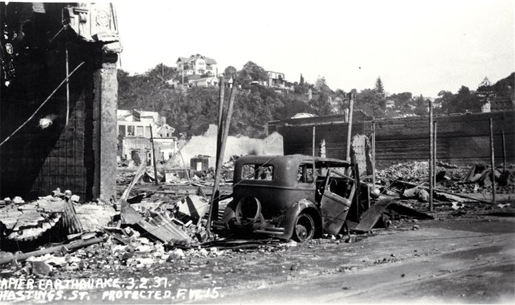 1931 Hawke's Bay earthquake Hawke39s Bay earthquake Christchurch City Libraries