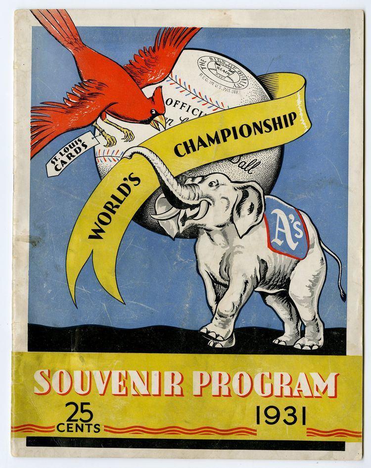 1931 World Series Lot Detail 1931 World Series Program StLouis vs Philadelphia