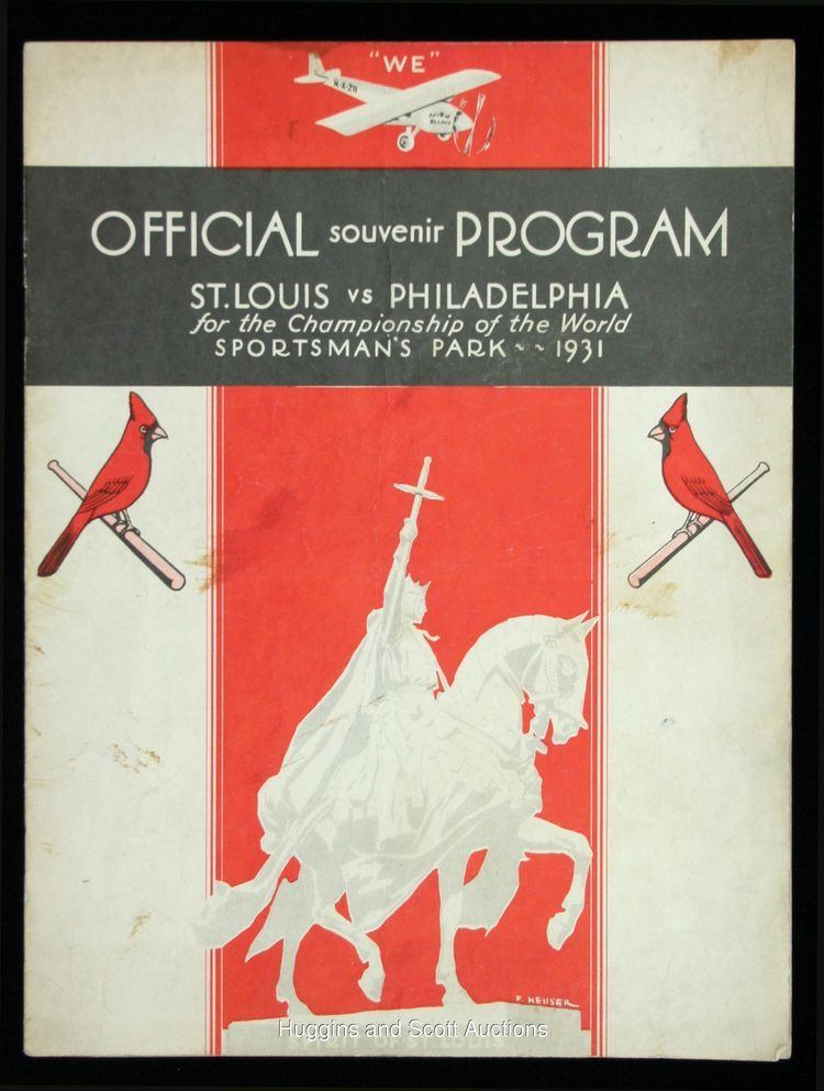 1931 World Series 1931 World Series Program Sportsman Park Version