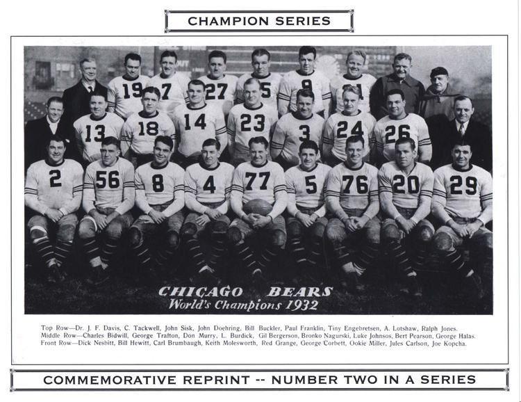 1932 Chicago Bears season i7photobucketcomalbumsy260fritschcards32cham