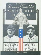 1933 World Series wwwbaseballalmanaccomimages1933wsprogramjpg