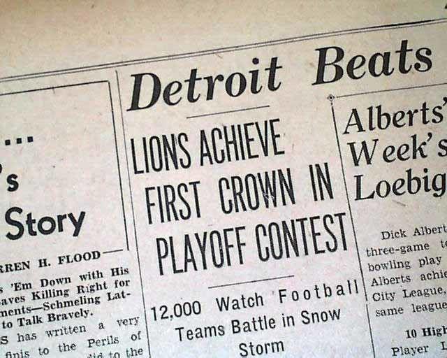 1935 Detroit Lions season imagesrarenewspaperscomebayimgs5602011image