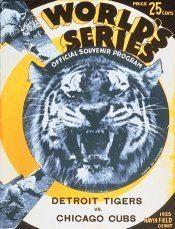 1935 World Series wwwbaseballalmanaccomimages1935wsprogramjpg