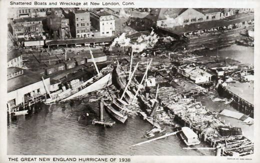 1938 New England hurricane Rhode Island Post Cards New England Hurricane of 1938 New London