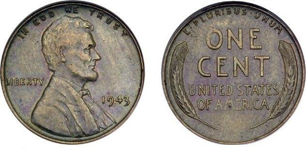 1943 steel cent