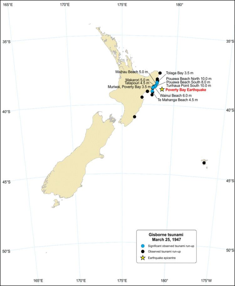 1947 Gisborne earthquakes and tsunami