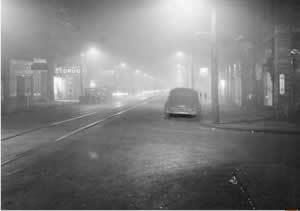 1948 Donora smog pabook2librariespsuedupalitmapDonoraSmogAtNoo