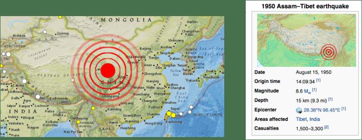 1950 Assam–Tibet earthquake Assam Earthquake EARTHQUAKES IN INDIA