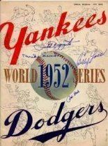 1952 World Series wwwbaseballalmanaccomimages1952wsprogramjpg