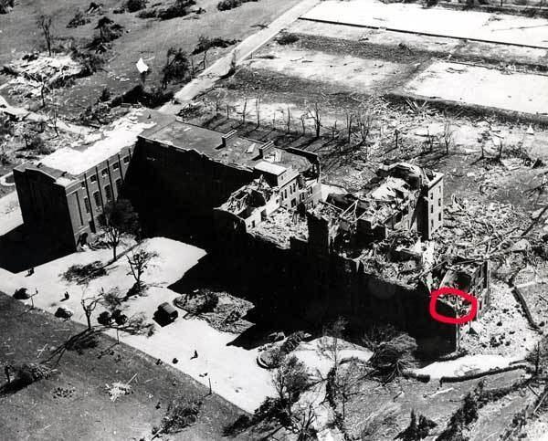 1953 Worcester tornado wwwassumptionustornado1953after1jpg