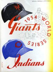 1954 World Series wwwbaseballalmanaccomimages1954wsprogram2jpg