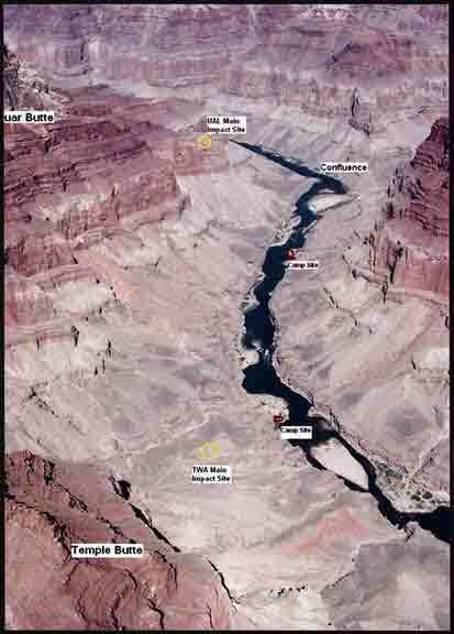 1956 Grand Canyon mid-air collision NCHGC Sites and Stories Colorado River Corridor 1956 Crash