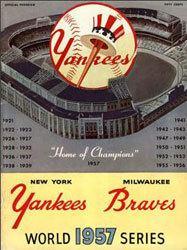 1957 World Series wwwbaseballalmanaccomimages1957wsprogram1jpg