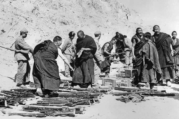 1959 Tibetan uprising India Tibetan exiles arrested at Chinese embassy in New Delhi on