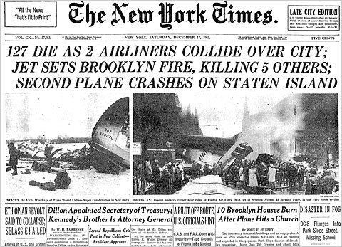 1960 New York mid-air collision The Boy Who Survived a 1960 Midair Crash The New York Times