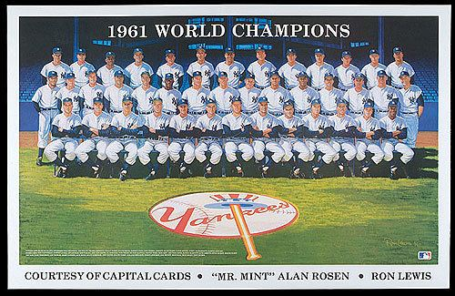 1961 New York Yankees season Robert Edward Auctions Original 1990 Ron Lewis Painting The 1961
