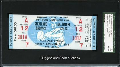 1964 NFL Championship Game 1964 NFL Championship Game Browns vs Colts Full Ticket