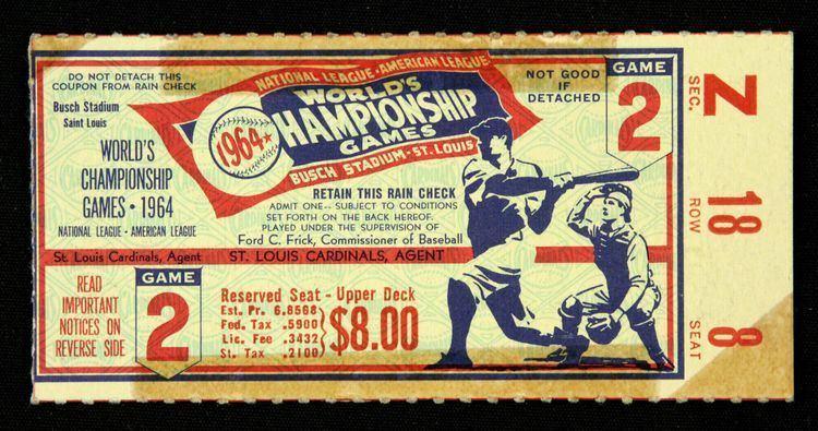 1964 World Series Lot Detail 1964 World Series Program amp Game 2 Ticket Stub