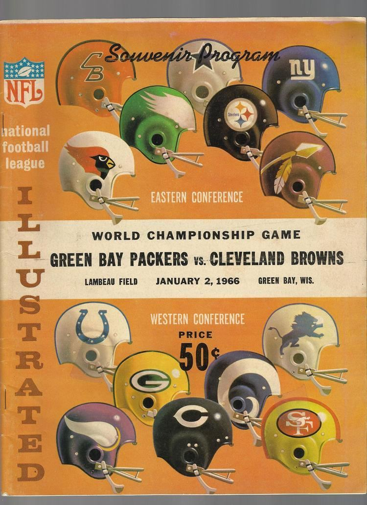 1965 NFL Championship Game 1965 NFL Championship program Green Bay Packers vs Cleveland Browns