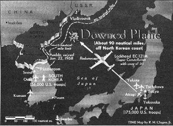 1969 EC-121 shootdown incident wwwdeanboyscomshootdownmapjpg