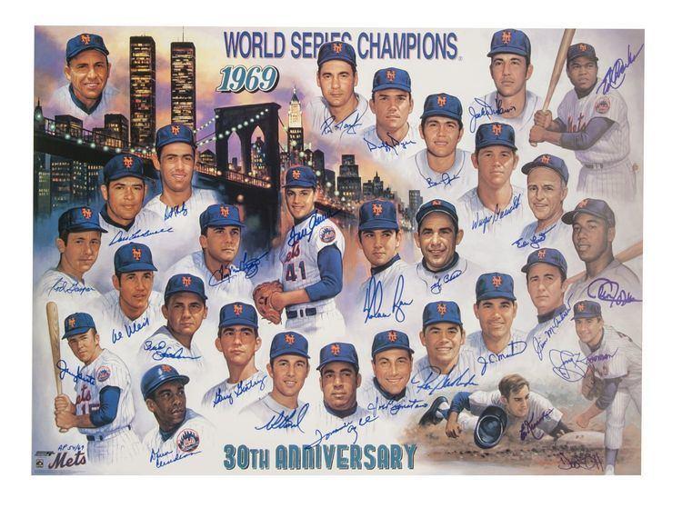 1969 New York Mets season Lot Detail 1969 New York Mets Team Signed 30th Anniversary Poster