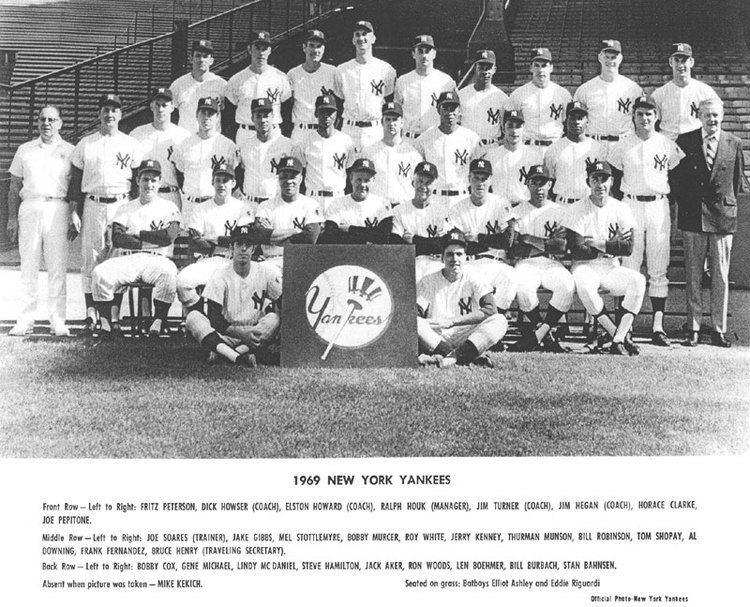 1969 New York Yankees season wwwthedeadballeracomTeamPhotos1969Yankeesjpg