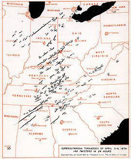 1974 Super Outbreak 1974 Super Outbreak Wikipedia
