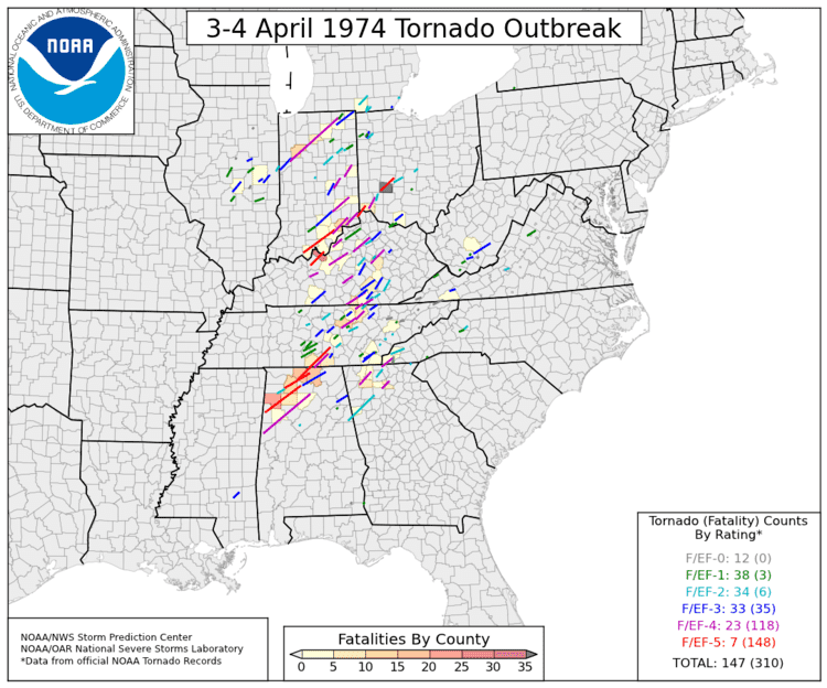 1974 Super Outbreak Looking back at the April 34 1974 Super Outbreak US Tornadoes