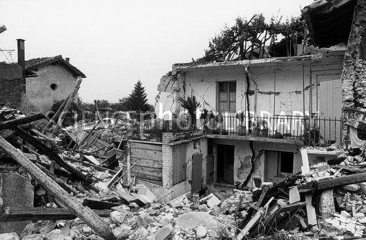 1976 Friuli earthquake Friuli Earthquake Damage Italy 1976 Stock Image C0049234