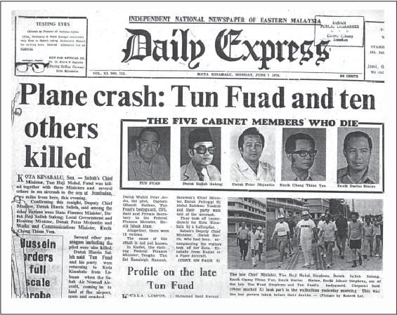 1976 Sabah Air GAF Nomad crash Double Six Tragedy Fred Tanak Kampung