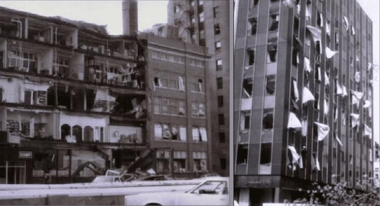 1980 Kalamazoo tornado 1980 Kalamazoo Tornado damage downtown