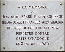 1980 Paris synagogue bombing httpsuploadwikimediaorgwikipediacommonsthu
