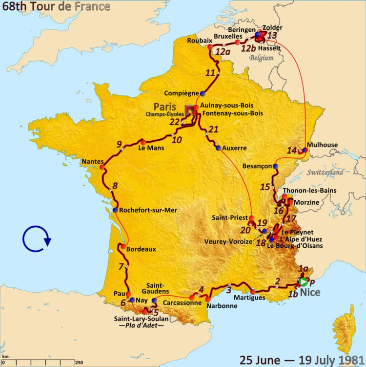 1981 Tour de France, Stage 12a to Stage 22