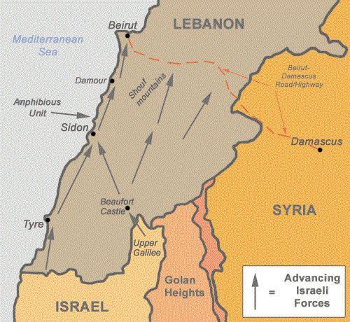 1982 Lebanon War israelipalestinianproconorgfiles1982lebanongif