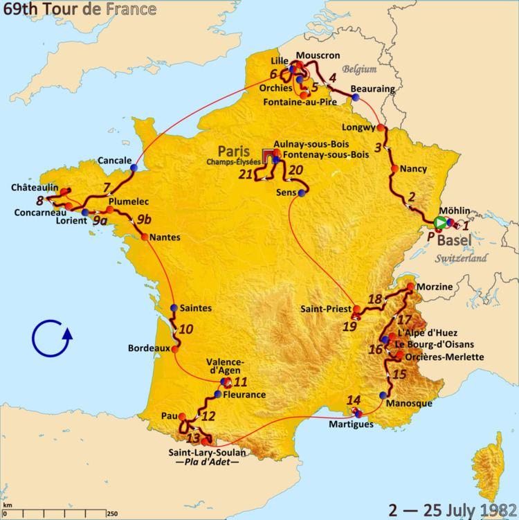 1982 Tour de France, Prologue to Stage 10