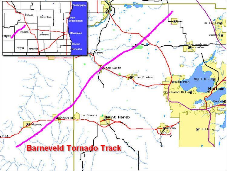 1984 Barneveld tornado outbreak FileBarneveld tornado trackgif Wikipedia