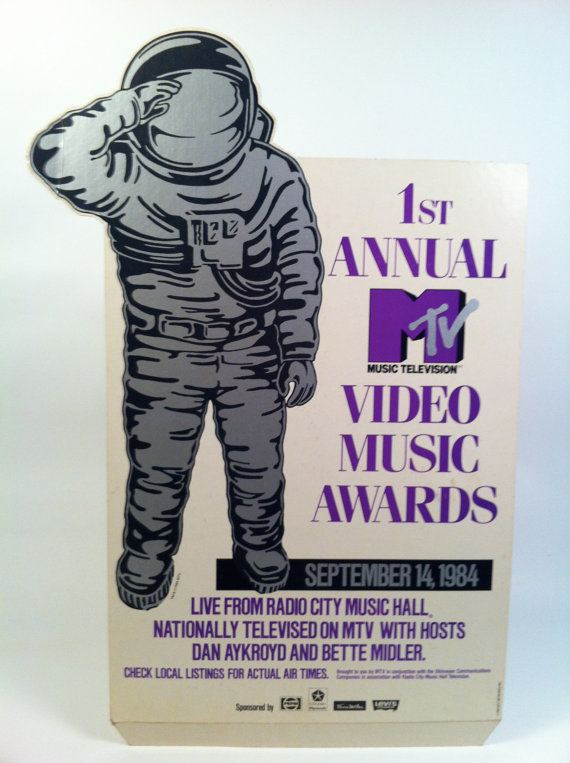 1984 MTV Video Music Awards 1st Annual MTV Video Music Awards Promotional by vintagebaron